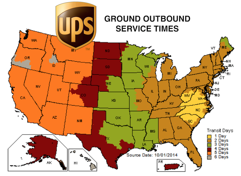 UPS Delivery Times – NRV Shipping