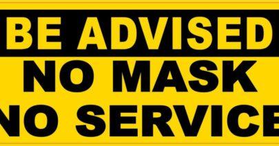 Covid 19 No Mask No Service